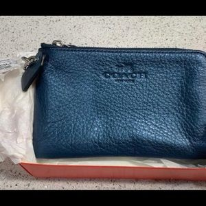 Brand New Coach Wristlet in Pebbled Leather